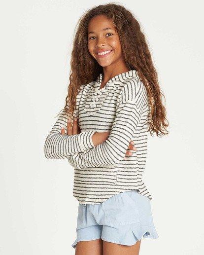 1 Girls' Side To Side Hooded Sweatshirt White G603TBSI Billabong