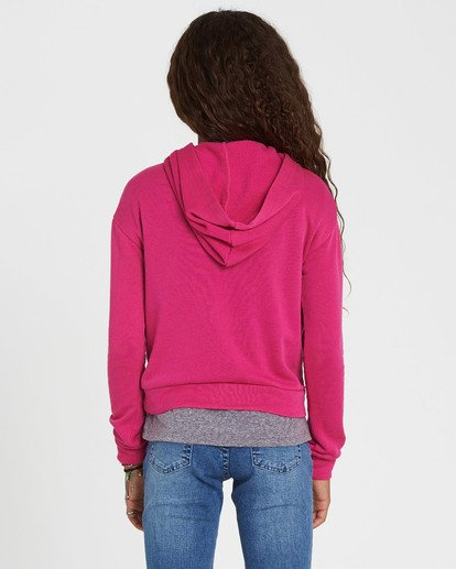 2 Girls' Go Saturday Hooded Fleece Pink G604SBGO Billabong