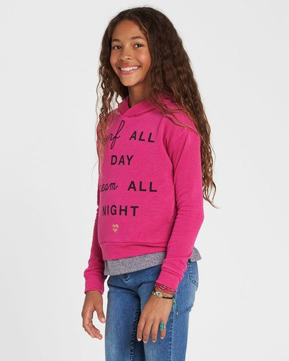1 Girls' Go Saturday Hooded Fleece Pink G604SBGO Billabong