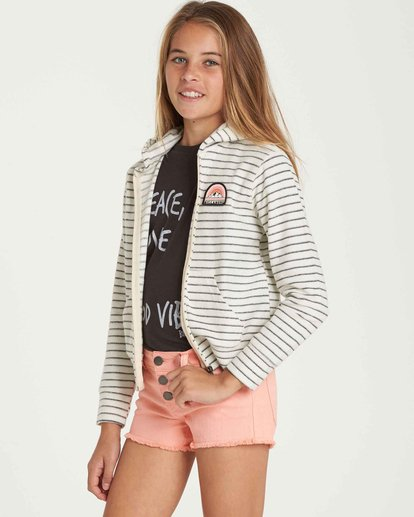 1 Girls' Always It Zip Up Hoodie Beige G605QBAL Billabong