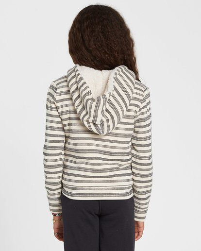 1 Girls' Snow Day Sherpa Hoodie White G605SBSN Billabong