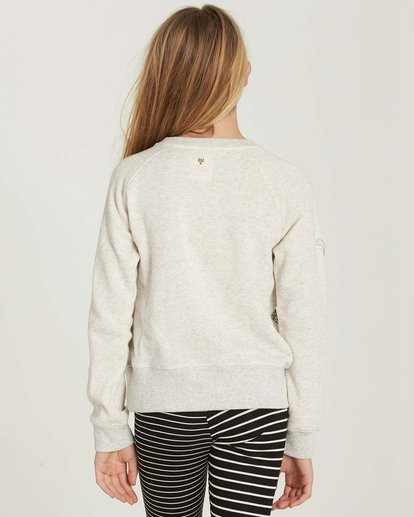 2 Girls' Running Free Fleece Pullover Grey G606MRUN Billabong