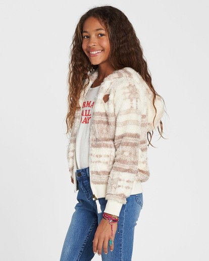 1 Girls' Cozy Town Fleece Beige G606QBCO Billabong