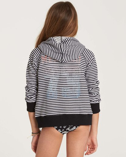 2 Girls' From The Sea Zip Up Hoodie Black G607NBFR Billabong