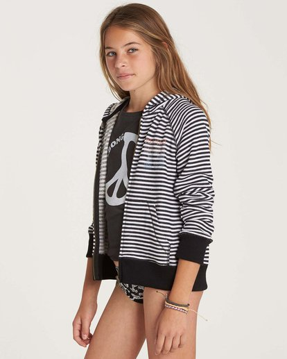 1 Girls' From The Sea Zip Up Hoodie Black G607NBFR Billabong