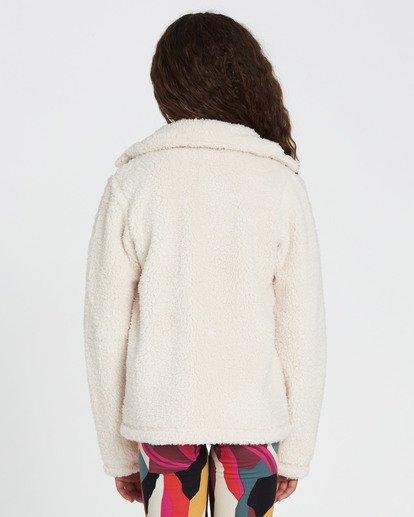 2 Girls' Artic Oasis Polar Fleece Jacket White G607SBAR Billabong