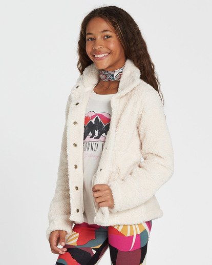 1 Girls' Artic Oasis Polar Fleece Jacket White G607SBAR Billabong