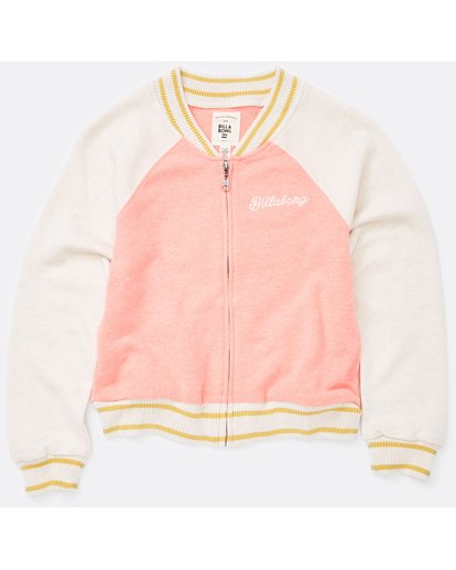 0 Tiger Eye Bomber Jacket Pink G609LTIG Billabong