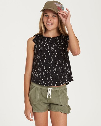0 Girls' Sweet Day Top Black G901QBSW Billabong