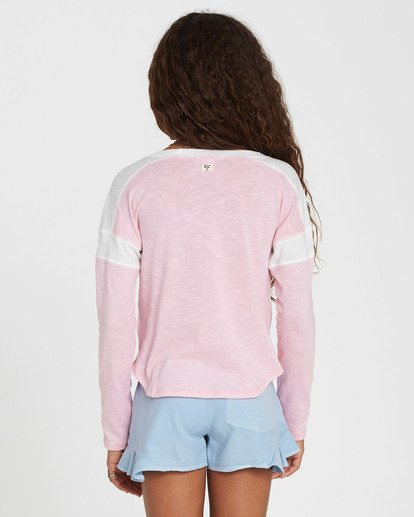 1 Girls' Game Time Long Sleeve Tee Pink G901SBGA Billabong
