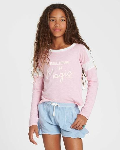 0 Girls' Game Time Long Sleeve Tee Pink G901SBGA Billabong