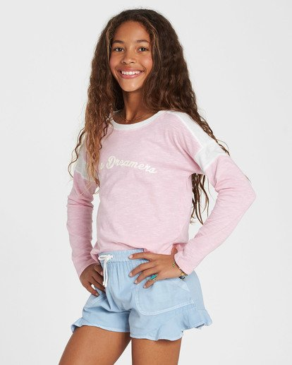 1 Girls' Game Time Long Sleeve Tee Pink G901SBGA Billabong