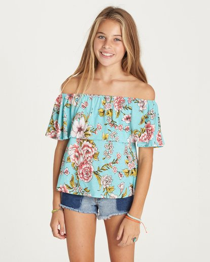 3 Girls' Better Sun Top Green G902LBET Billabong