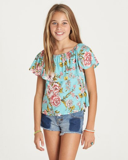 1 Girls' Better Sun Top Green G902LBET Billabong