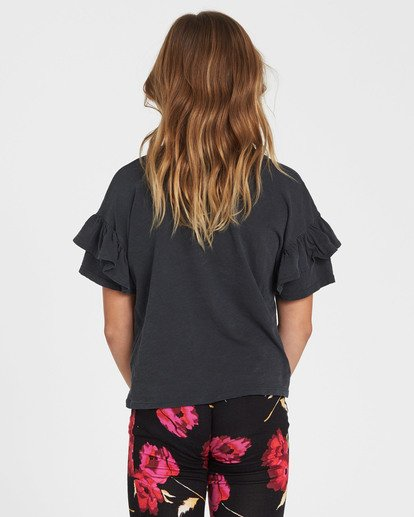 2 Girls' Tee Time Pocket Tee Black G902QBTE Billabong