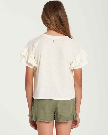 2 Girls' Tee Time Pocket Tee Beige G902QBTE Billabong