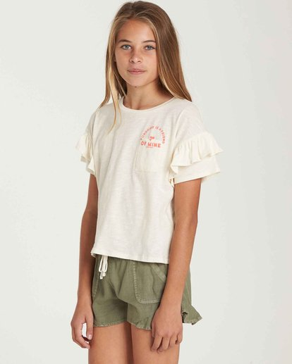 1 Girls' Tee Time Pocket Tee Beige G902QBTE Billabong