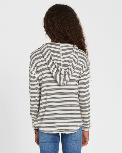 2 Girls' These Days Hooded Long Sleeve White G903SBTH Billabong