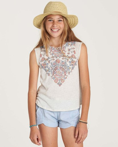 0 Girls' Swing Down Top Grey G907NBSW Billabong
