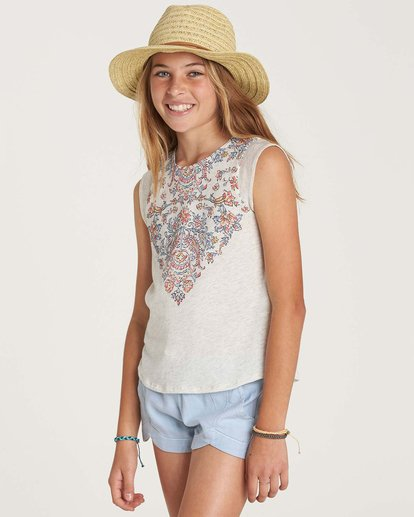 1 Girls' Swing Down Top Grey G907NBSW Billabong