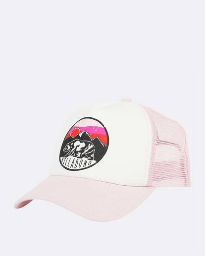 0 Girls' Pitstop Trucker Hat Purple GAHTHPIT Billabong