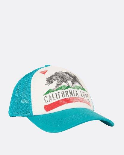 2 Girls' Pitstop Trucker Hat Green GAHTHPIT Billabong