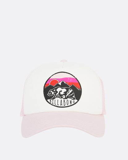 2 Girls' Pitstop Trucker Hat Purple GAHTHPIT Billabong