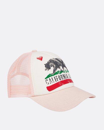 2 Girls' Pitstop Trucker Hat Pink GAHTHPIT Billabong