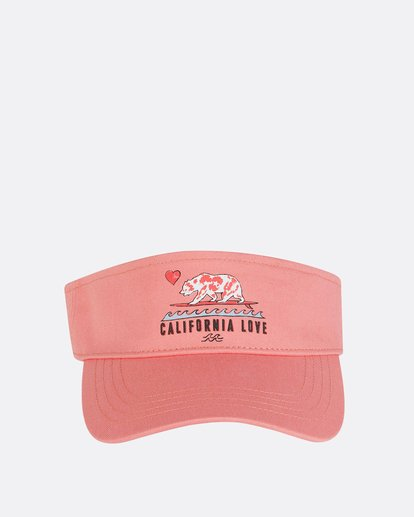 1 Girls' Peace Out Visor Pink GAHWNBPE Billabong
