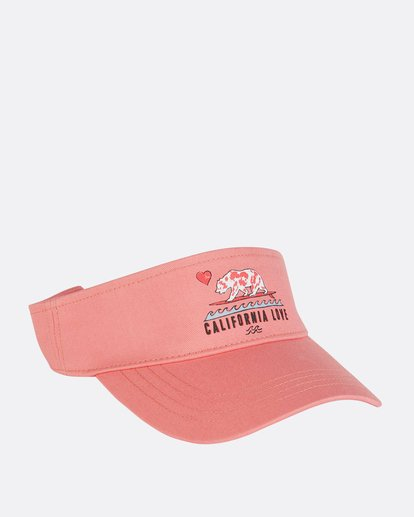 2 Girls' Peace Out Visor Pink GAHWNBPE Billabong