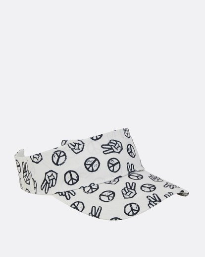 6 Girls' Peace Out Visor  GAHWPBPE Billabong