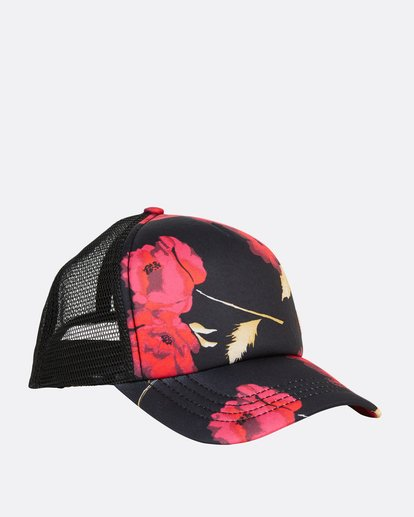 2 Girls' Shenanigans Trucker Hat Red GAHWQBSH Billabong
