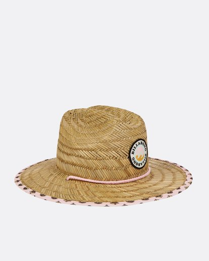 2 Girls' Beach Dayz Lifeguard Hat Beige GAHWTBBE Billabong