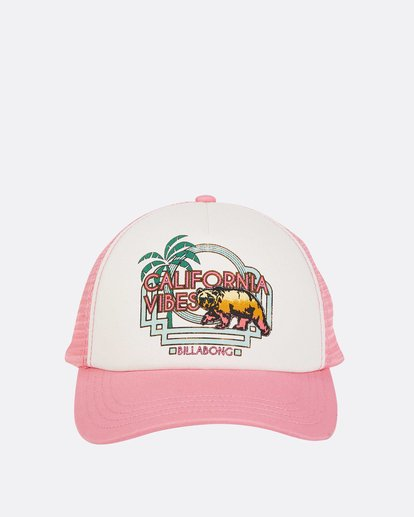 1 Girls' Cali Vibes Trucker Hat Pink GAHWTBCA Billabong