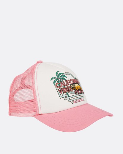 2 Girls' Cali Vibes Trucker Hat Pink GAHWTBCA Billabong