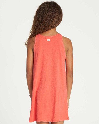 2 Girls' Choose You Tank Dress Red GD01TBCH Billabong