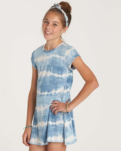 1 Girls' Stand Off Dress Blue GD02NBST Billabong