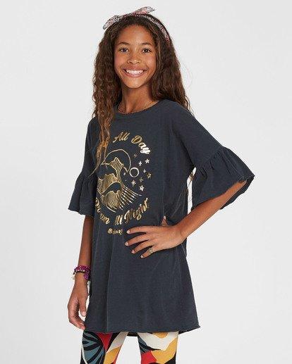 2 Girls' Wild Eyes Knit Dress Black GD02QBWI Billabong