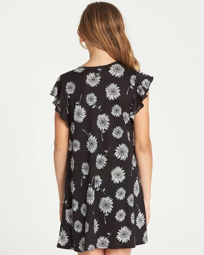 2 Girls' Dreamin Daiseys Dress Black GD02TBDR Billabong
