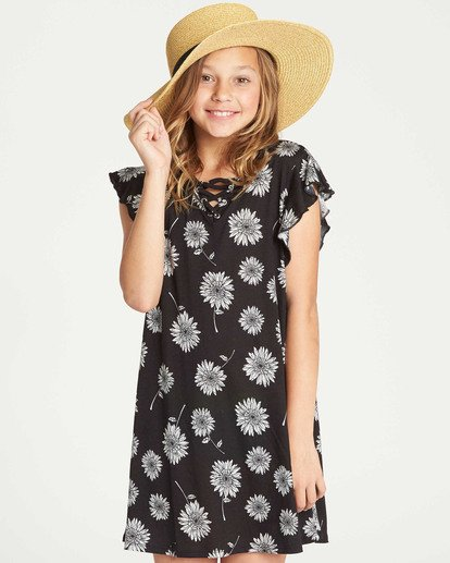 0 Girls' Dreamin Daiseys Dress Black GD02TBDR Billabong