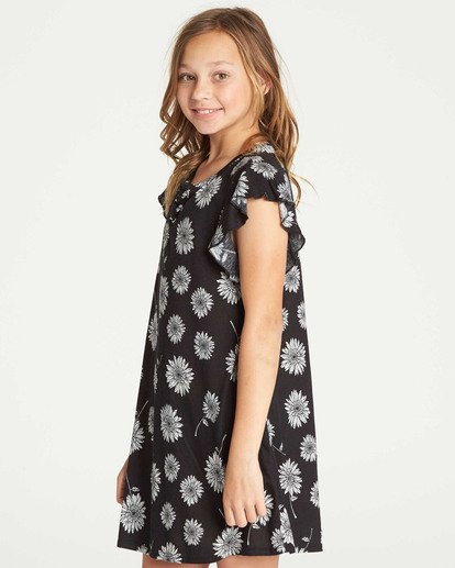 1 Girls' Dreamin Daiseys Dress Black GD02TBDR Billabong