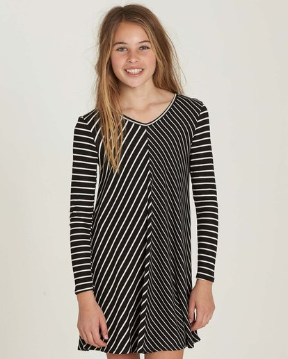 0 Girls' Just Because Dress Black GD03MJUS Billabong