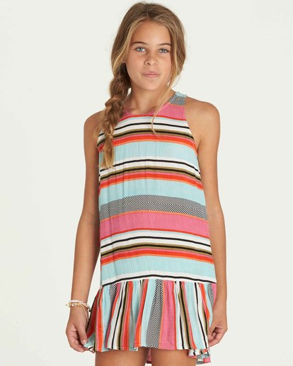3 Girls' Universal Love Dress  GD03PBUN Billabong