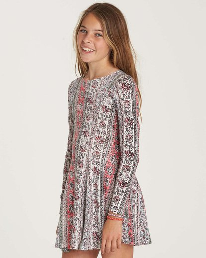 1 Girls' Stand Out Dress Beige GD04NBST Billabong