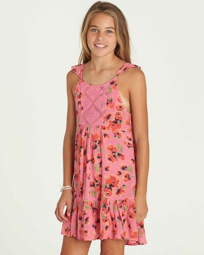 1 Girls' Sundazer Dress Pink GD05PBSU Billabong