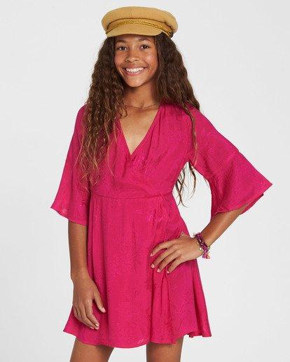 0 Girls' Divine Child Woven Dress Pink GD06SBDI Billabong