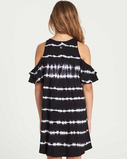 2 Girls' Chasing Waves Tie-Dye Dress Black GD06TBCH Billabong