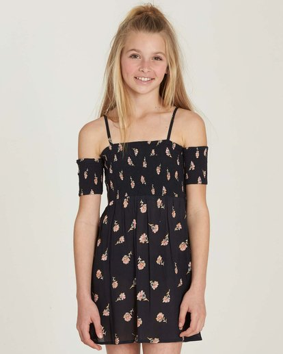 0 Girls' Flora Soiree Dress Black GD07MFLO Billabong