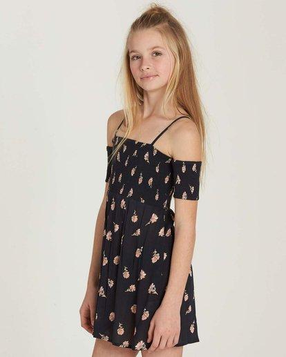 1 Girls' Flora Soiree Dress Black GD07MFLO Billabong