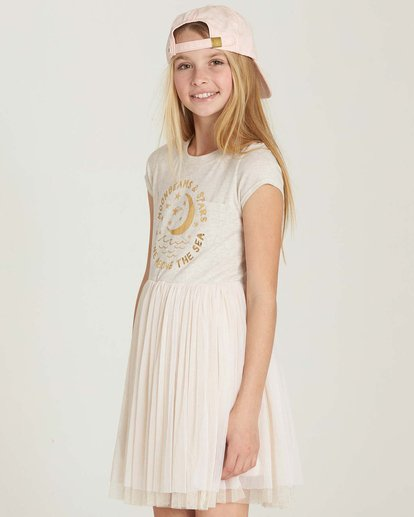 1 Girls' Sunkissed Nights Dress White GD09MSUN Billabong